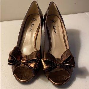 I. Renee peep toe heeled shoes